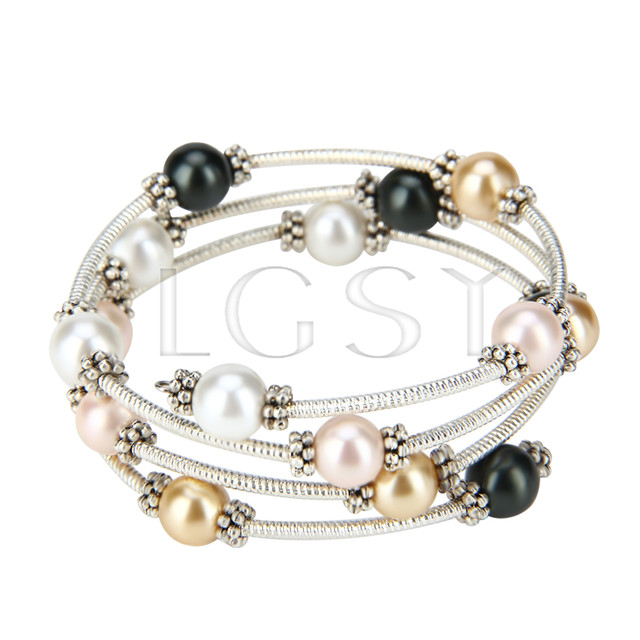 New style Colorful Shell pearl adjustable bracelet