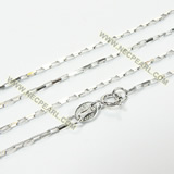 925 rhodium plated sterling silver necklace chain