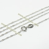 rhodium plated sterling silver pendant chain wholesale