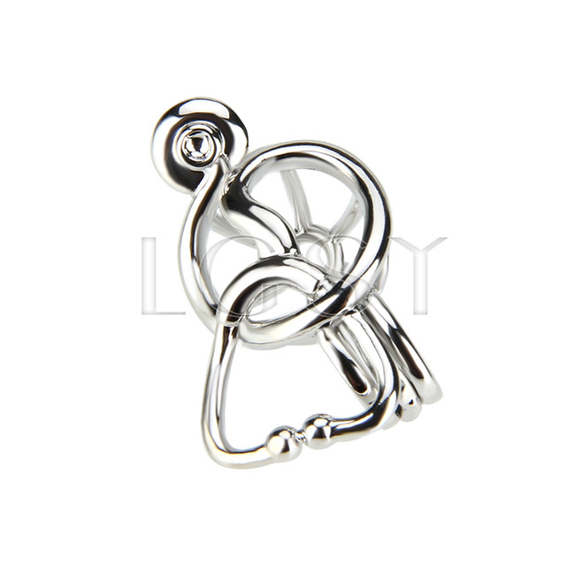 10pcs echometer Shape Silver plated Cage Pendant