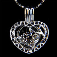 10pcs It&#39s a boy Shape Silver plated Cage Pendant