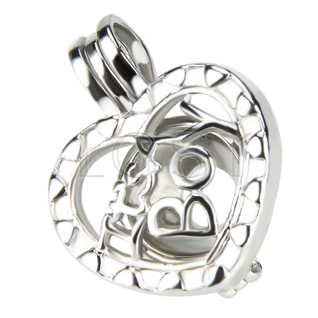 10pcs It&#39s a boy Shape Silver plated Cage Pendant