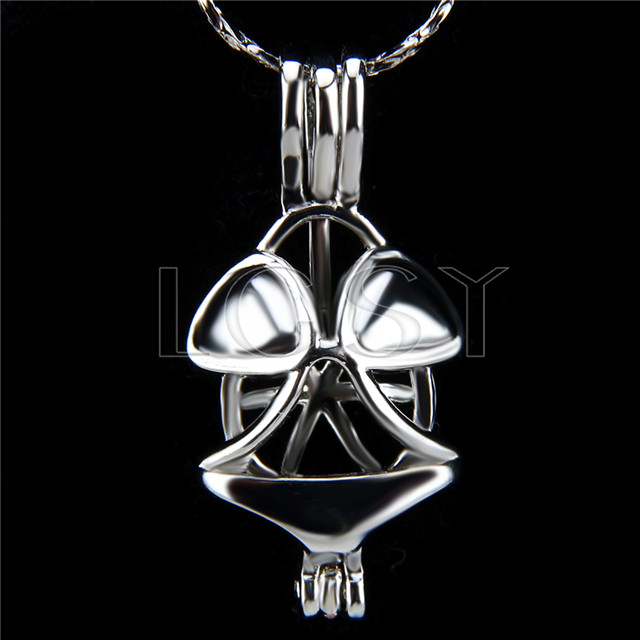 10pcs Frog Silver plated Cage Pendant