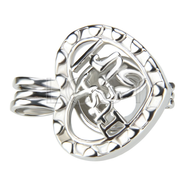 10pcs It&#39s a girl Silver plated Cage Pendant