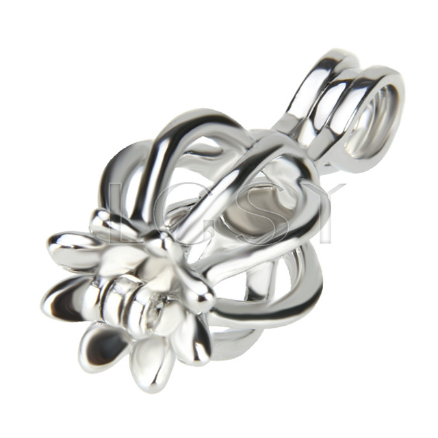10pcs Silver plated Octopus Cage Pendant