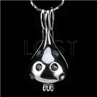 10pcs Silver plated Water drop Cage Pendant