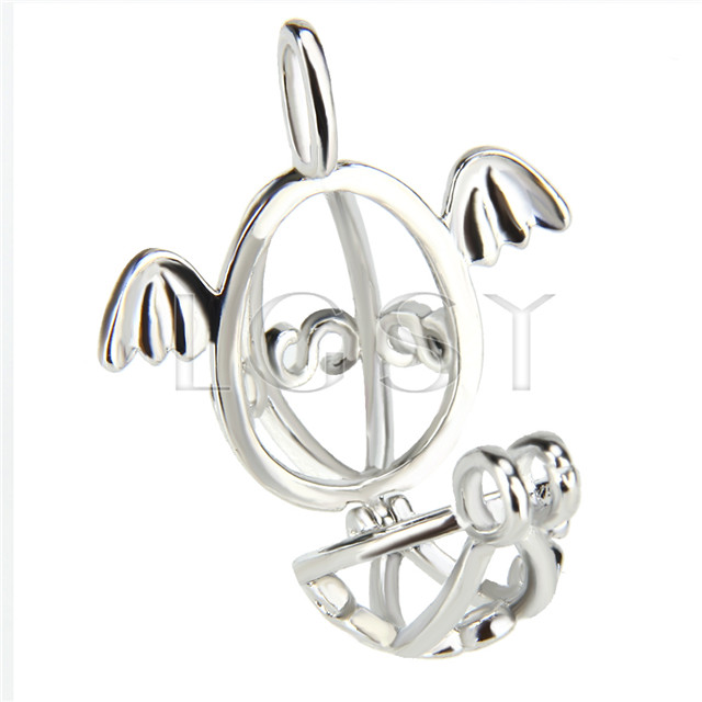 10pcs Silver plated Angel egg Cage Pendant