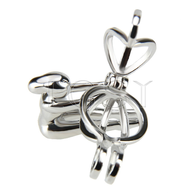 10pcs Silver plated Athlete Cage Pendant