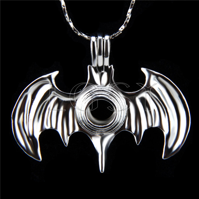 10pcs Silver plated Bugbat Cage Pendant