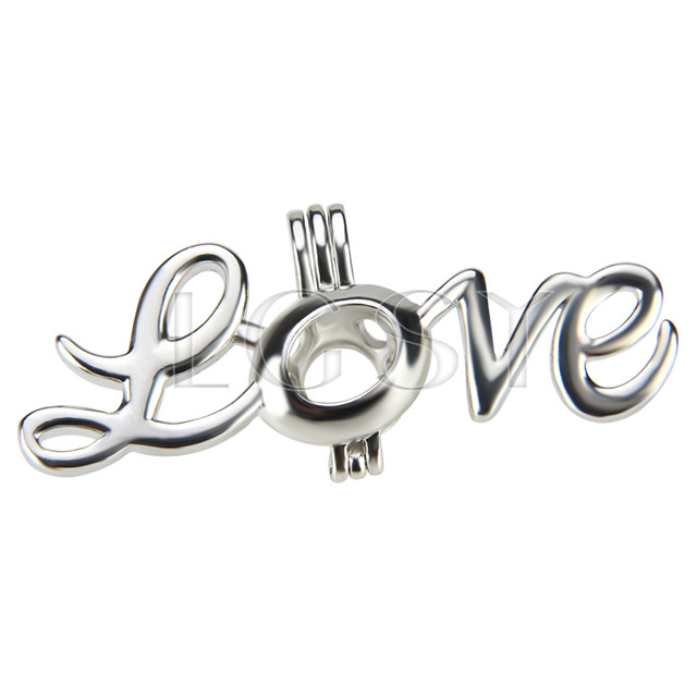 10pcs Silver plated Thanks giving love Cage Pendant