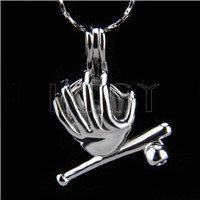 Latest Silver plated powerful hand Cage Pendant 10pcs