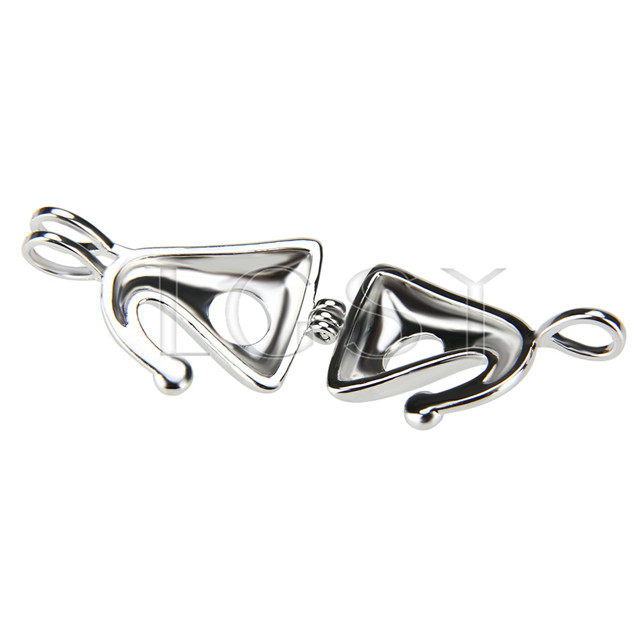 Christmas design Silver plated hat Cage Pendant 10pcs