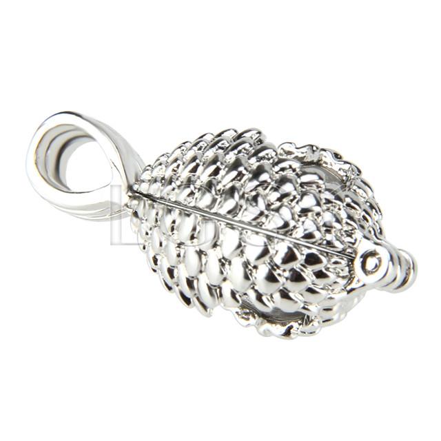 Fashion design Silver plated oval shape Cage Pendant 10pcs