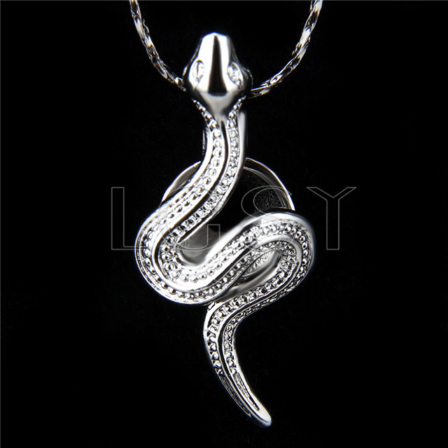 Fashion design Silver plated snake Cage Pendant 10pcs