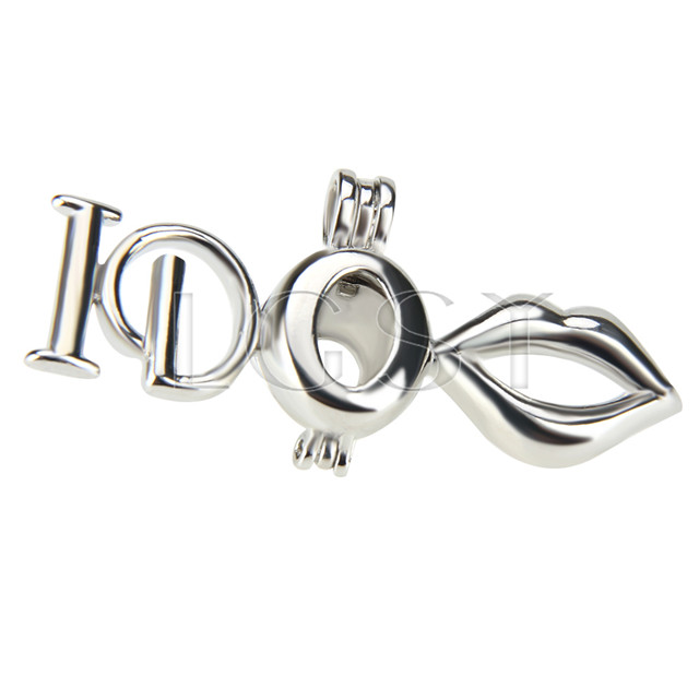 Fashion design Silver plated I DO Cage Pendant 10pcs
