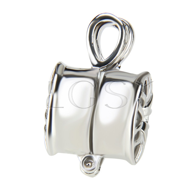 Fashion design Silver plated wheel Cage Pendant 10pcs
