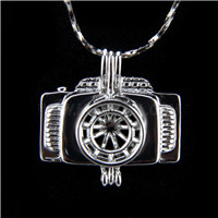 Newest design Silver plated Camera Cage Pendant 10pcs