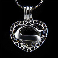 Newest design Silver plated Love Cage Pendant 10pcs