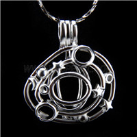 Newest design Silver plated Snail Cage Pendant 10pcs