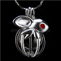 Newest design Silver plated Rabbit Cage Pendant 10pcs
