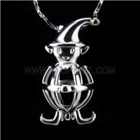 Newest design Silver plated Monkey Cage Pendant 10pcs