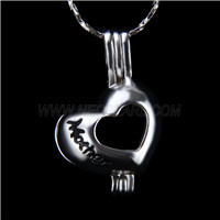 Popular design Silver plated mother love Cage Pendant 10pcs