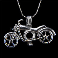 Popular design Silver plated Motorcycle Cage Pendant 10pcs