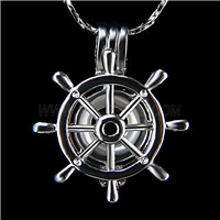 Popular design Silver plated Wheel Cage Pendant 10pcs