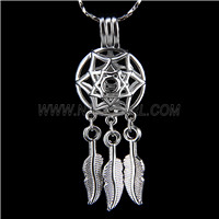 Popular design Silver plated Dream catcher Cage Pendant 10pcs