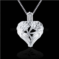 Popular design Silver plated Love Cage Pendant 10pcs