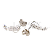 Latest Wholesale silver plated Bee earring fitting