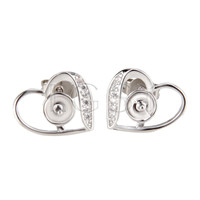 Latest Wholesale silver plated Heart earring fitting