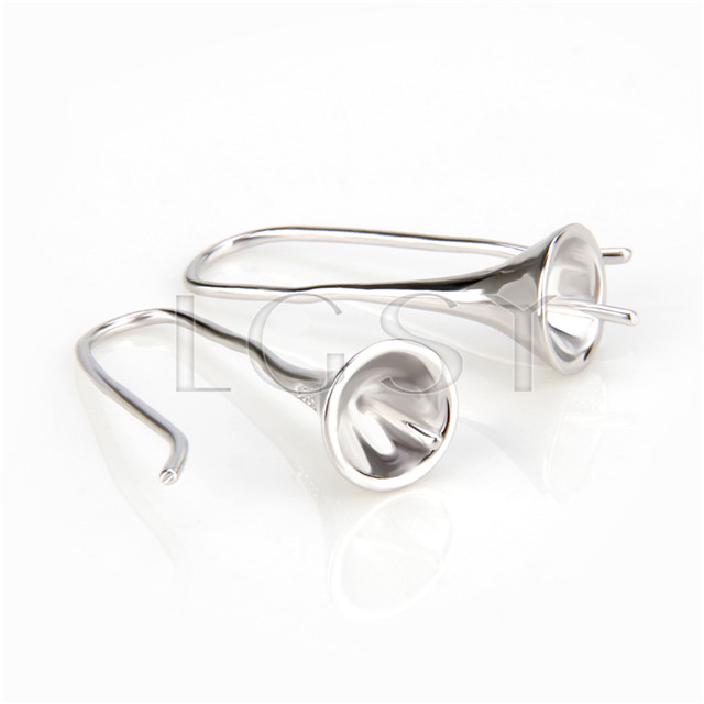 Latest Wholesale silver plated trumpet earring fitting