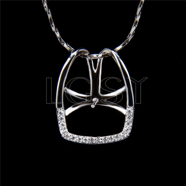 Wholesale latest silver plated simple design Pendant fitting