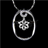 Wholesale latest silver plated Flower design Pendant fitting