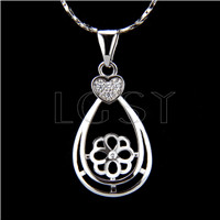Wholesale latest silver plated Waterdrop Pendant fitting