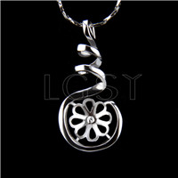 Wholesale latest silver plated Twisted Pendant fitting
