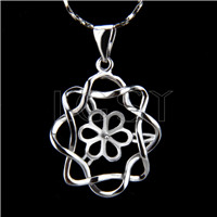 Wholesale latest silver plated Flower Pendant fitting