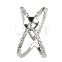 Latest Wholesale silver plated adjustable ring fitting