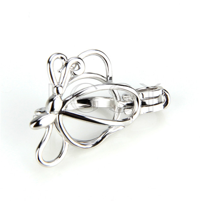 Fashion 925 Sterling Silver butterfly Cage Pendant