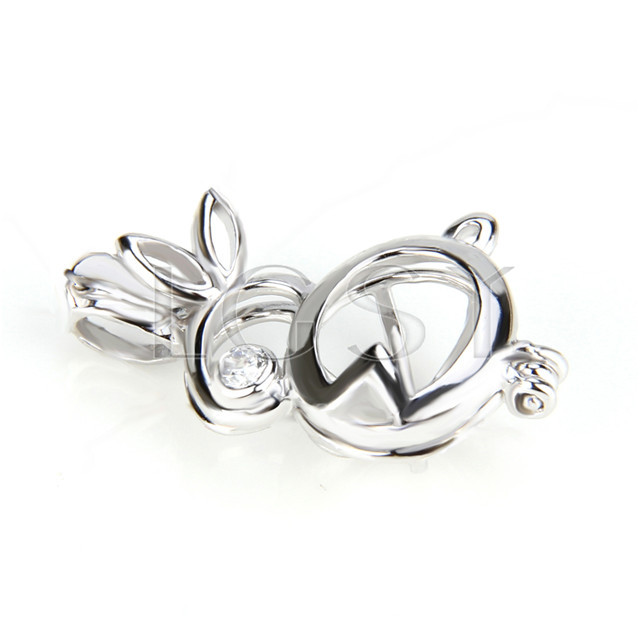 Fashion 925 Sterling Silver rabbit Cage Pendant