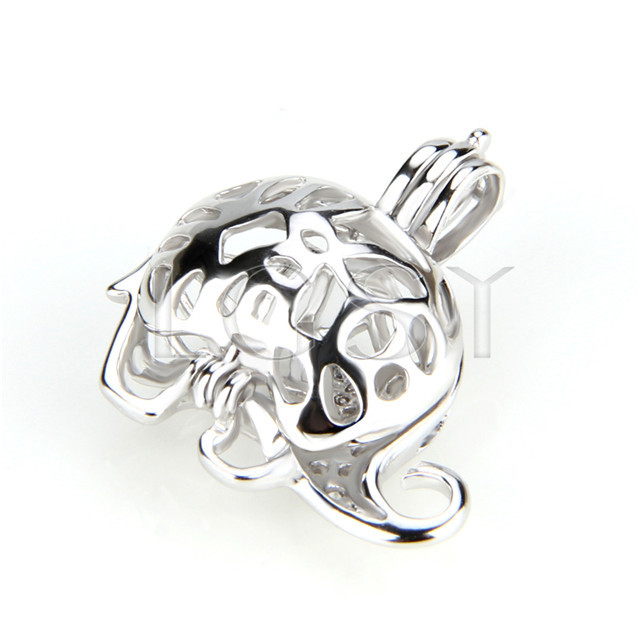 Fashion 925 Sterling Silver elephant Cage Pendant