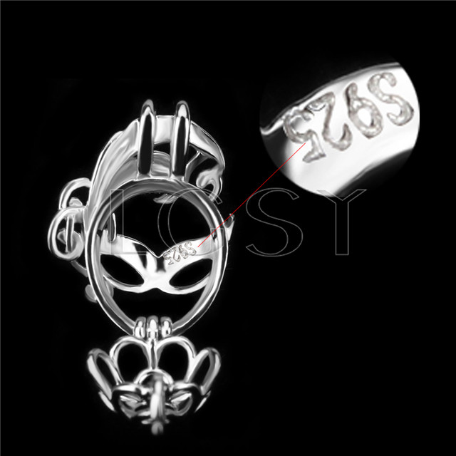 Fashion 925 Sterling Silver mask Cage Pendant