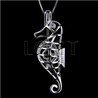 Fashion 925 Sterling Silver Sea house Cage Pendant