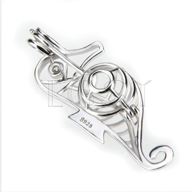 Fashion 925 Sterling Silver Sea house Cage Pendant