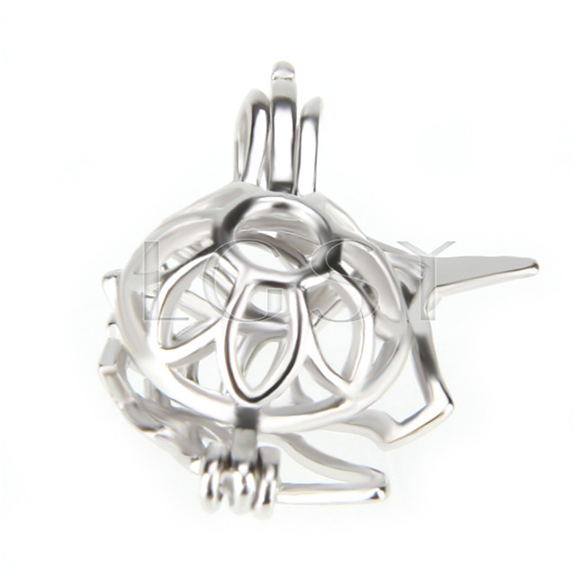 Fashion 925 Sterling Silver Unicorn Cage Pendant