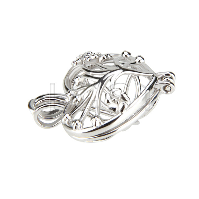 Fashion 925 Sterling Silver Heart Cage Pendant