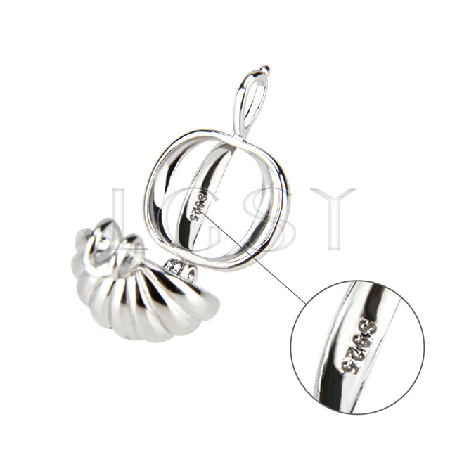 Fashion 925 Sterling Silver Pumpkin Cage Pendant