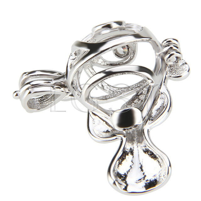 Latest 925 Sterling Silver Clownfish Cage Pendant