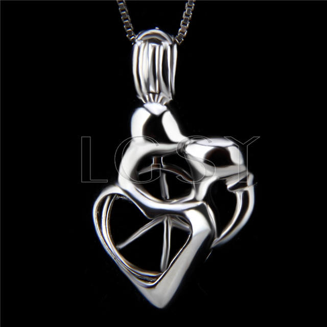 Latest 925 Sterling Silver Kissing lovers Cage Pendant